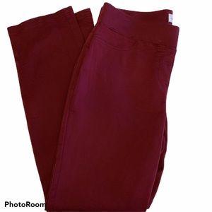 Liz Claiborne Pull On Burgundy Trousers